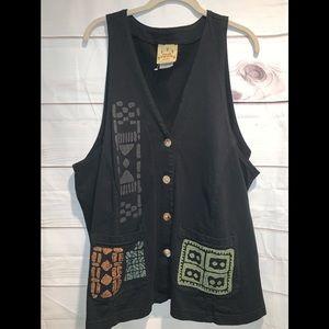 BLue Cactus Xlarge vest new w out tags